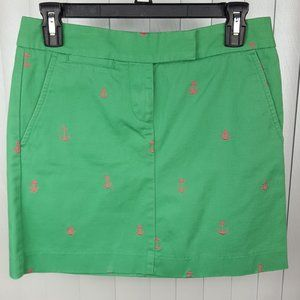 J. Crew Nautical Skirt with Pink Anchors Size 0